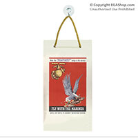 WWII Poster, Fly With Marines: Suncatcher