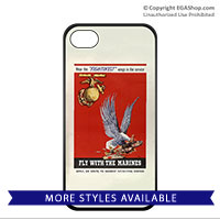 WWII Poster, Fly With Marines: Cell Phone Cover