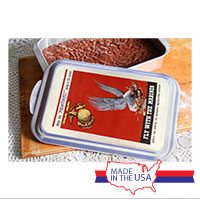 WWII Poster, Fly With Marines: Cake Pan and Lid