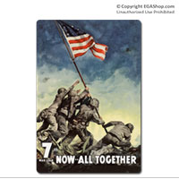 WWII Poster, Iwo Jima: Vintage Sign