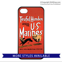 WWII Poster, Teufel Hunden: Cell Phone Cover