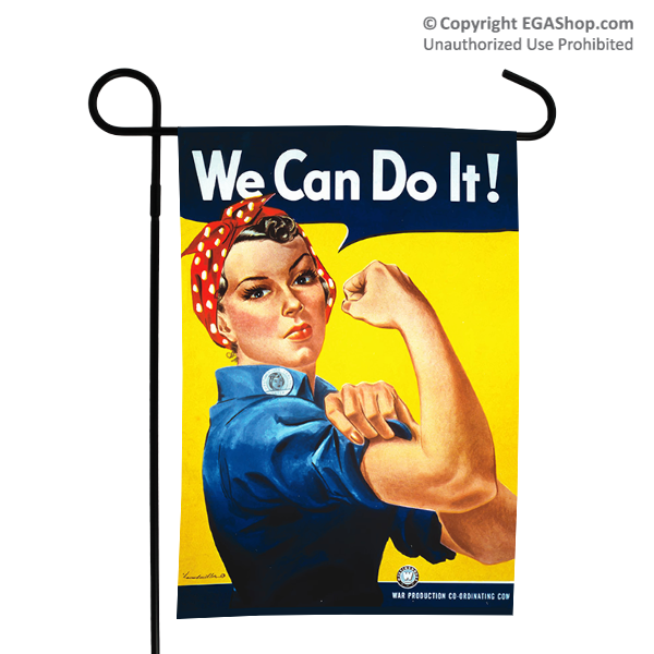 WWII Poster, Rosie the Riveter: Garden Flag