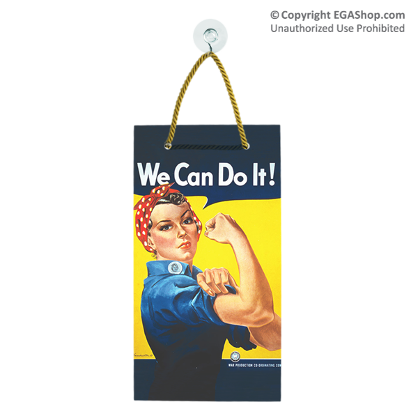 WWII Poster, Rosie the Riveter: Suncatcher