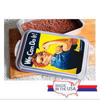 WWII Poster, Rosie the Riveter: Cake Pan and Lid