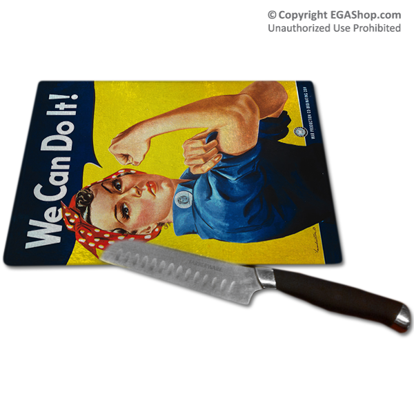 WWII Poster, Rosie the Riveter: Cutting Board