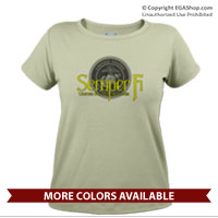 _T-Shirt (Ladies): Semper Fi w/ Seal