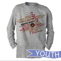 _Youth Long Sleeve Shirt: Semper Family
