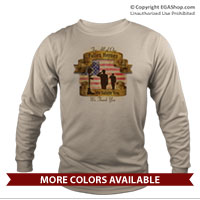 _Long Sleeve Shirt (Unisex): Fallen Heroes, We Salute You