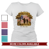 _T-Shirt (Ladies): Fallen Heroes, We Salute You