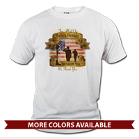 _T-Shirt (Unisex): Fallen Heroes, We Salute You