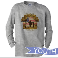 _Youth Long Sleeve Shirt: Fallen Heroes, We Salute You