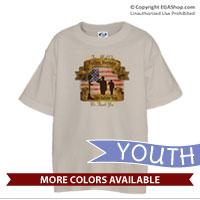 _T-Shirt (Youth): Fallen Heroes, We Salute You