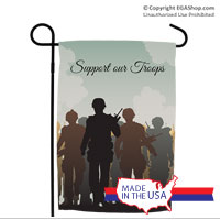 Garden Flag: Troops Silhouette