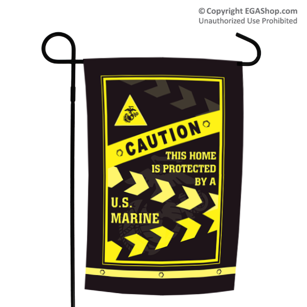 Garden Flag: Caution