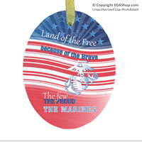 Ornament: Land of the Free (glass)
