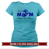 _T-Shirt (Ladies): Proud Mom-EGA
