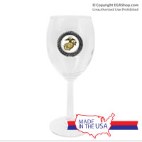 Wine Glass, Pewter: Gold EGA