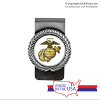 Money Clip, Pewter: Gold EGA