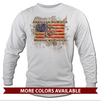 _Long Sleeve Shirt (Unisex): American by Birth...