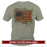 _T-Shirt (Unisex): American by Birth...
