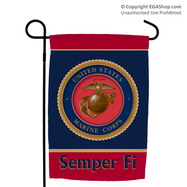 Garden Flag: Seal with Semper Fi