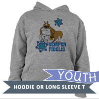 _Youth Hoodie or Long Sleeve Shirt: Semper Fido - Winter