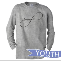 _Youth Long Sleeve Shirt: Infinity, Semper Fi Script