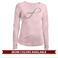 _Long Sleeve Solar Shirt (Ladies): Infinity, Semper Fi Script