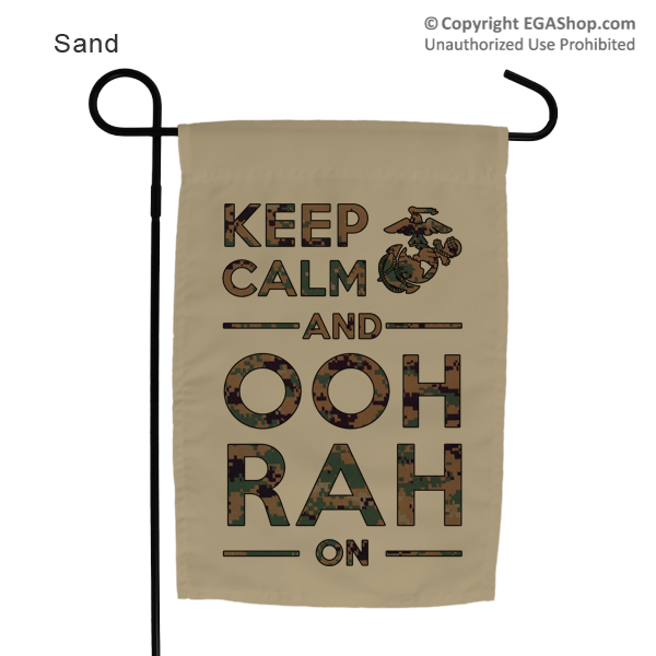 Garden Flag: KEEP CALM, OOH RAH on