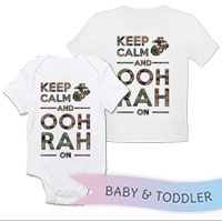 _T-Shirt/Onesie (Toddler/Baby): KEEP CALM, OOH RAH on