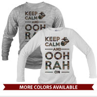 _Long Sleeve Shirt (Unisex): KEEP CALM, OOH RAH on