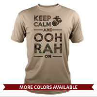 _Performance Shirt: KEEP CALM, OOH RAH on