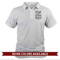 _Polo (Unisex): KEEP CALM, OOH RAH on