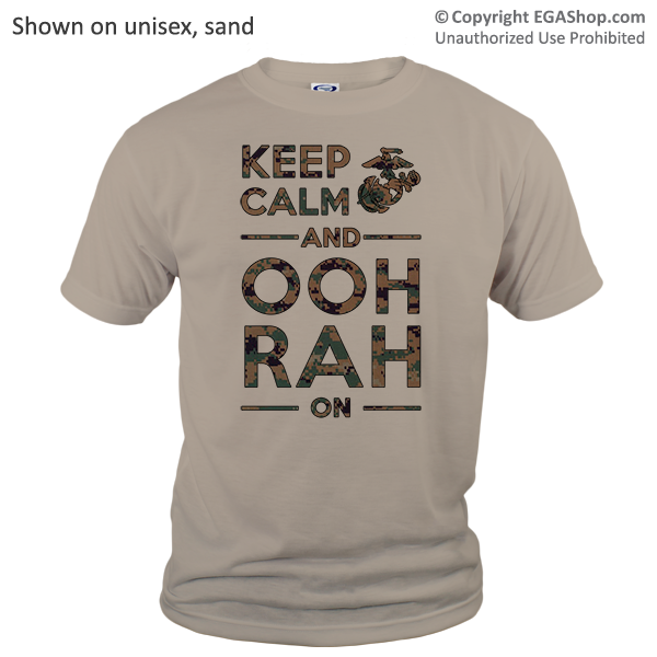 _T-Shirt (Unisex): KEEP CALM, OOH RAH on