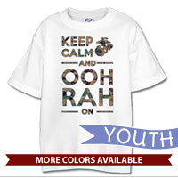 _T-Shirt (Youth): KEEP CALM, OOH RAH on