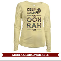 _Long Sleeve Solar Shirt (Ladies): KEEP CALM, OOH RAH on