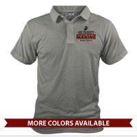 _Polo (Unisex): I may look harmless... -red