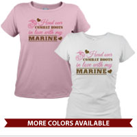 _T-Shirt (Ladies): Head Over Combat Boots
