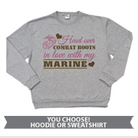 _Hoodie or Sweatshirt: Head Over Combat Boots