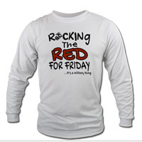 _Long Sleeve Shirt (Unisex): Rocking the Red -EGA
