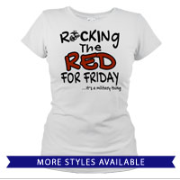 _T-Shirt (Ladies): Rocking the Red -EGA