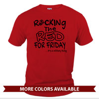 _T-Shirt (Unisex): Rocking the Red -EGA