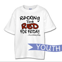 _T-Shirt (Youth): Rocking the Red -EGA