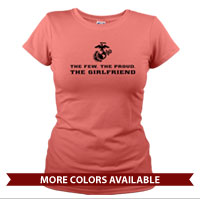 _T-Shirt (Ladies): The Few The Proud -black
