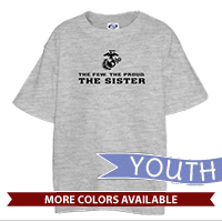 _T-Shirt (Youth): The Few The Proud -black