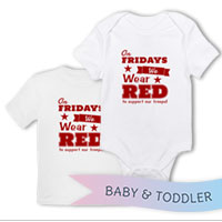 _T-Shirt/Onesie (Toddler/Baby): We Wear Red