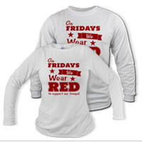 _Long Sleeve Shirt (Unisex): We Wear Red