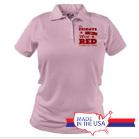 _Polo (Ladies): We Wear Red