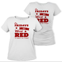 _T-Shirt (Ladies): We Wear Red