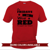 _T-Shirt (Unisex): We Wear Red